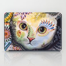 Lucy ... Abstract cat art iPad Case