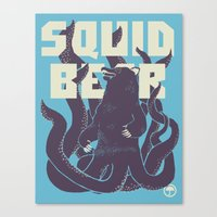 Squid-Bear Canvas Print