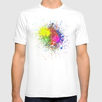 Stains Mens Fitted Tee White SMALL