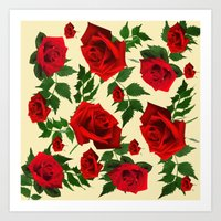 roses Art Prints featuring roses  by mark ashkenazi