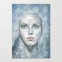 Winter or Snow Queen Canvas Print