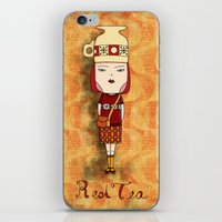Red Tea Girl iPhone & iPod Skin
