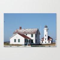 A perch by the Sea Canvas Print