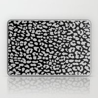 Gray Black Leopard Laptop & iPad Skin