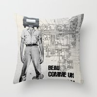 Beau comme un Camion Throw Pillow