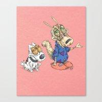 Zombie Life Canvas Print