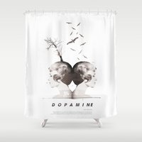 Dopamine | Collage Shower Curtain