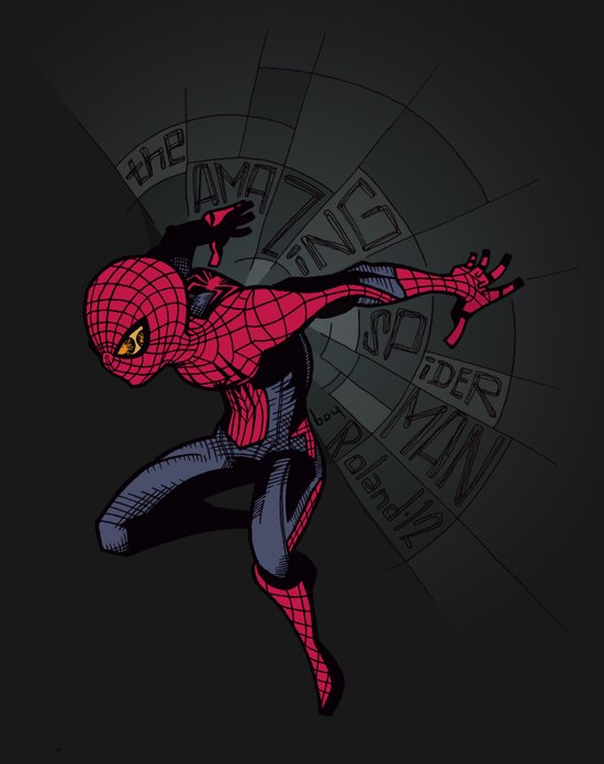The Amazing Spider-Man: Mid-nite Art Print