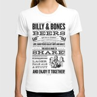 Billy & Bones Hand Crafted Beer Womens Fitted Tee White SMALL