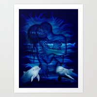 Passion act - pair with Dolphin pair Art Print