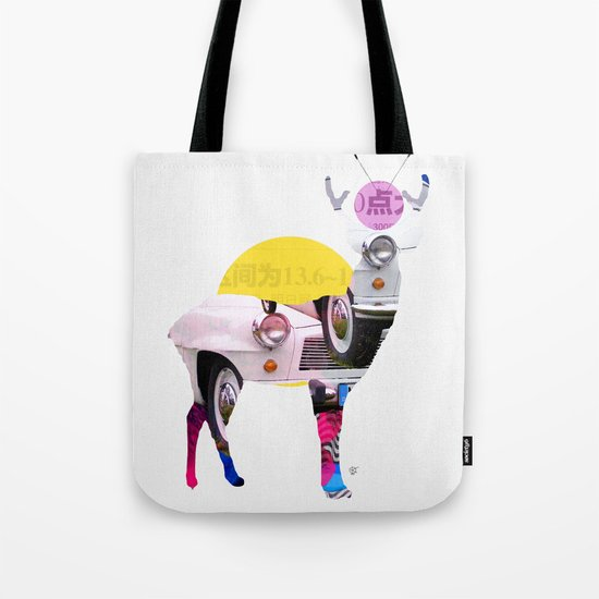 Deer Old Times Tote Bag