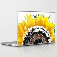 sunflower Laptop & iPad Skins featuring Sunflower by Regan's World