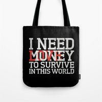 Money & Love Tote Bag