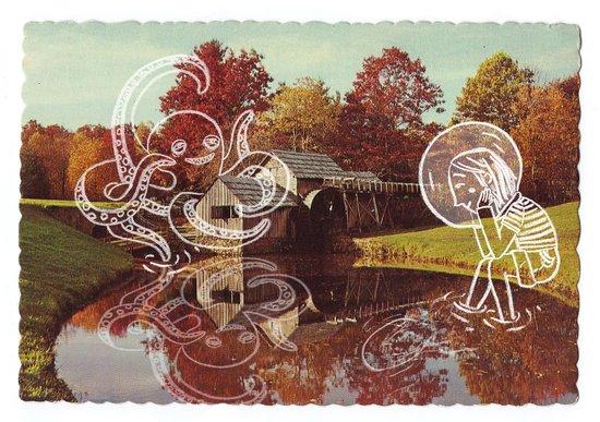 Old postcard Art Print