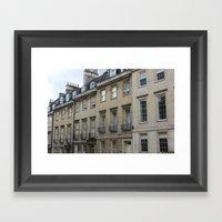 Row Of Houses In Bath Framed Art Print