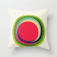 FUTURE GLOBES 002 Throw Pillow