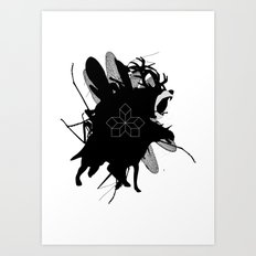 the bear Art Print