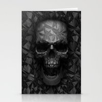 Geometric Skull Stationery Cards