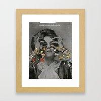Massage Swollen Eye Lids Framed Art Print