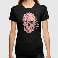 A Beautiful Death  Womens Fitted Tee Tri-Black SMALL