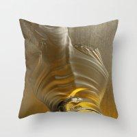Molten Gold II Throw Pillow
