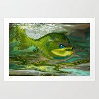 Smilen Sam The Fish...Fo… Art Print