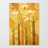 Musical Trees Canvas Print