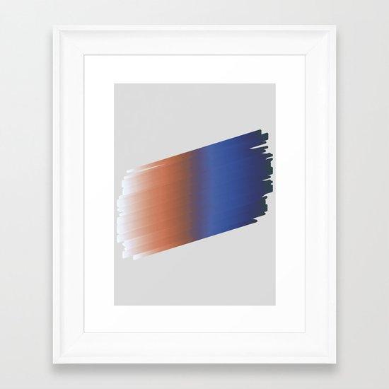 RainStroke Framed Art Print