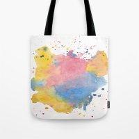 RAINBOW SPLATTER Tote Bag