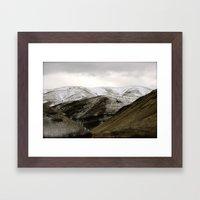 Powder Sugar Mountains Framed Art Print