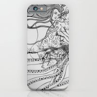 iPhone & iPod Case featuring Magic Force / Original A4 Illustration / Pen & Ink by Zhou