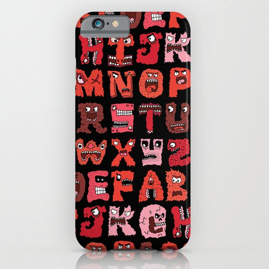 Angry Letters iPhone & iPod Case