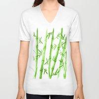 Bamboo Pattern Unisex V-Neck