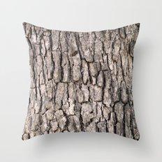 Camouflage Tree Bark Throw Pillow