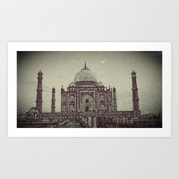 Taj chrome Art Print