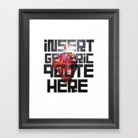 To Quote Is To Lie Framed Art Print