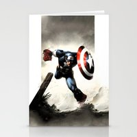 iphone 5 case Stationery Cards featuring Captain America Case Designed for iPhone 5 by dadostirlo