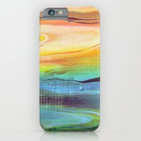 iPhone & iPod Case featuring Dawn at the beach by Liz Moran