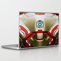 iron man Laptop & iPad Skins featuring IRON MAN Iron Man by Veylow