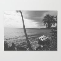 Washed Up (B&W) Canvas Print