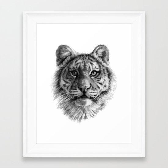 Tiger Cub SK106 Framed Art Print