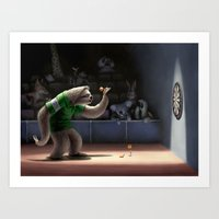 Sloth Darts Art Print