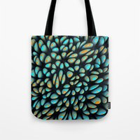 Blue Bloobly Tote Bag