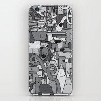 Pile de Monstres - Black/White iPhone & iPod Skin