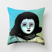 Miss F.  Throw Pillow