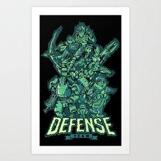 Defense Team Art Print
