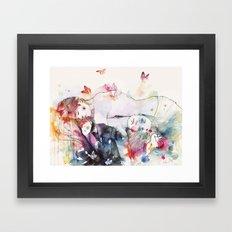 dreamy insomnia Framed Art Print