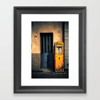Italian Gas Station Framed Art Print