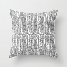 Knit Outline Throw Pillow