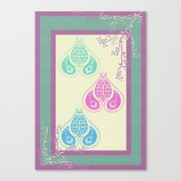 Indian Paisley Canvas Print